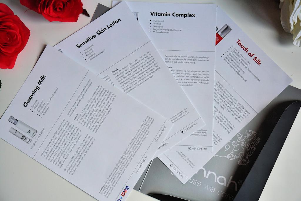 Leaflet met uitgebreide informatie, gebruiksaanwijzing en ingrediëntenlijst