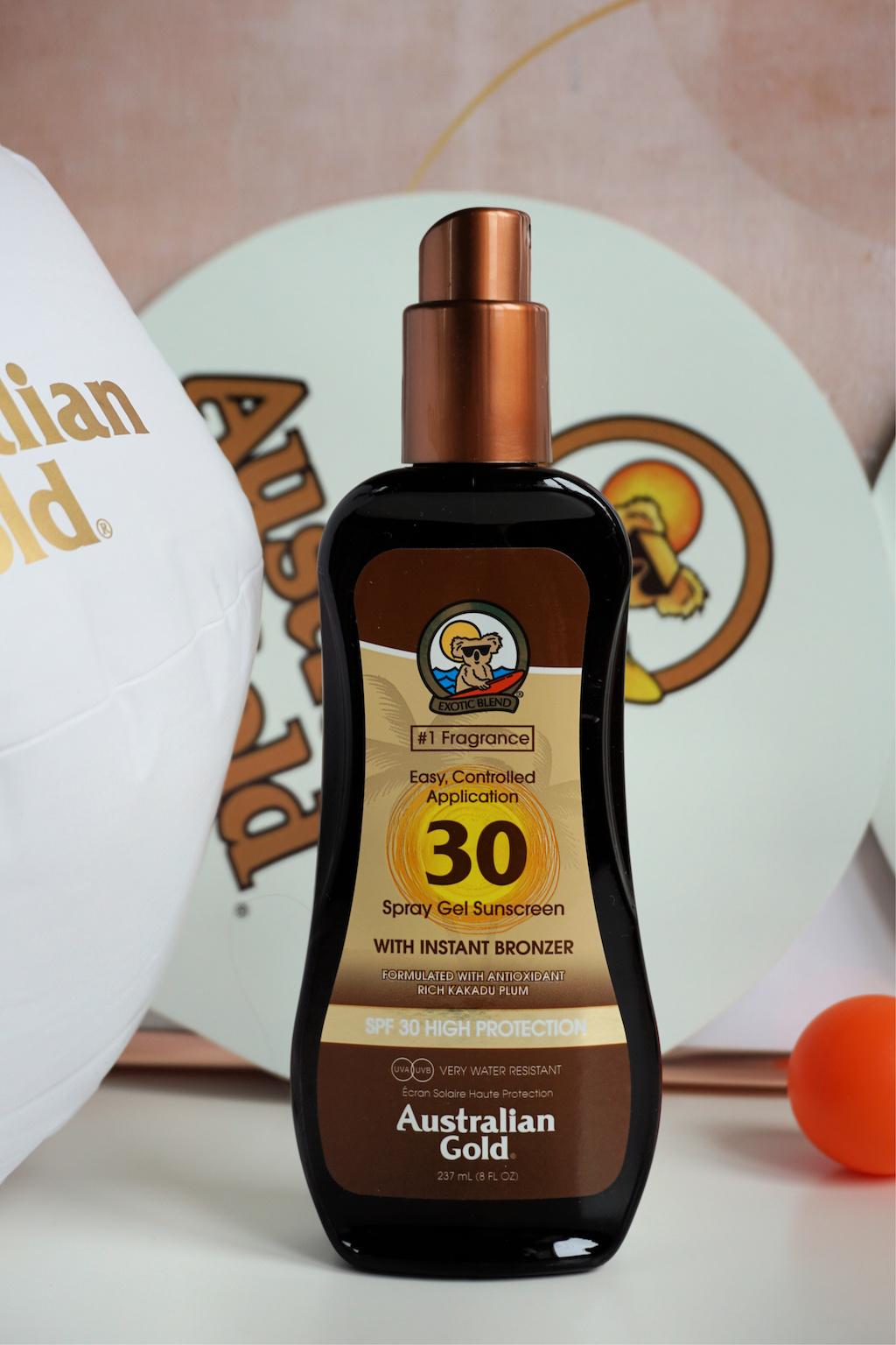 Australian Gold Spray Gel met Bronzer Review