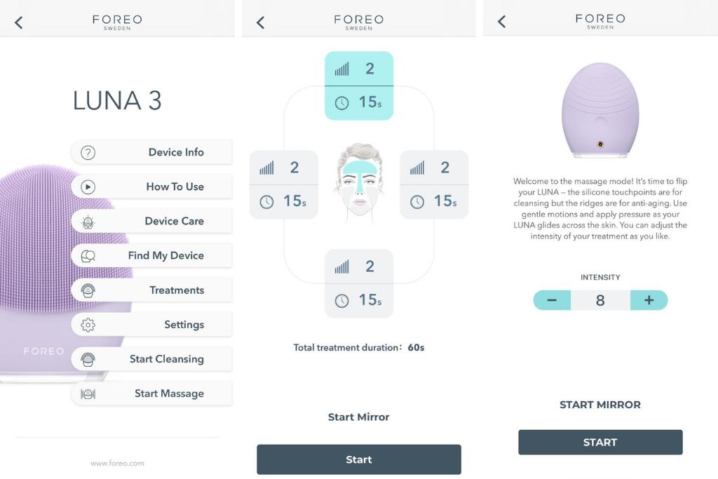 FOREO LUNA 3 app
