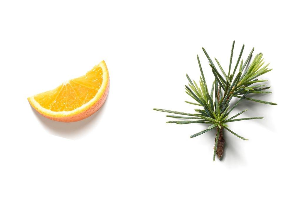 Geur van zoete sinaasappel en cederhout