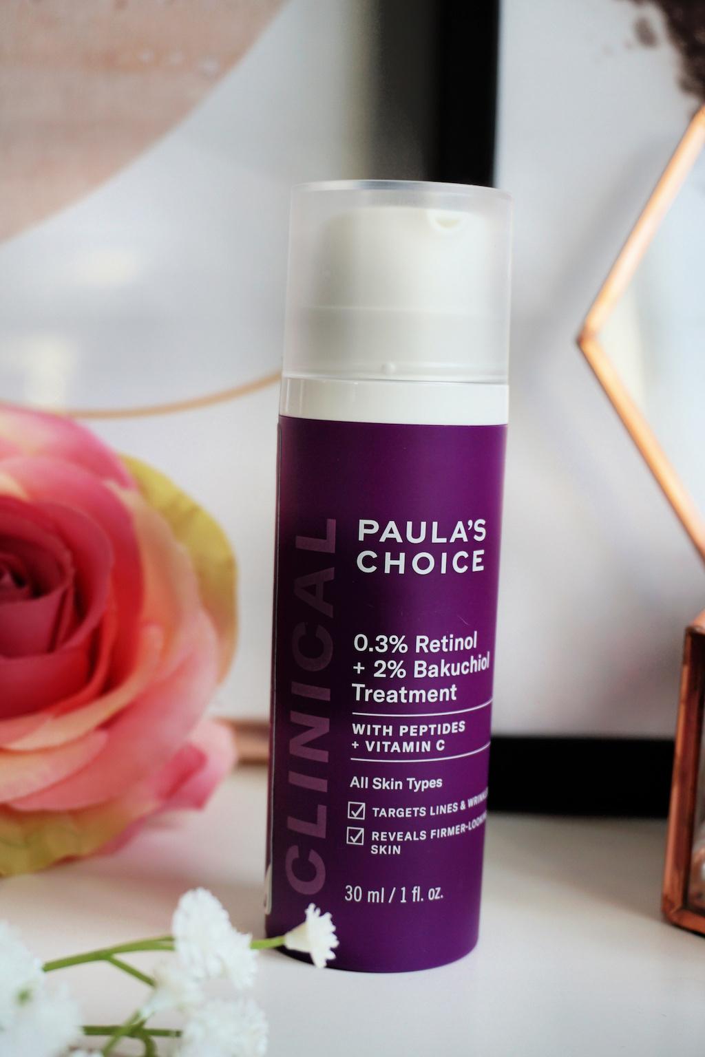 Paula's Choice Clinical 0,3% Retinol + 2% Bakuchiol Treatment Review